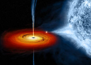 A stellar-mass black hole in orbit with a companion star located about 6,000 light years from Earth.