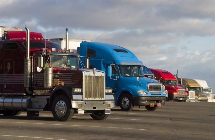 bigstock-Line-Of-Trucks-270815