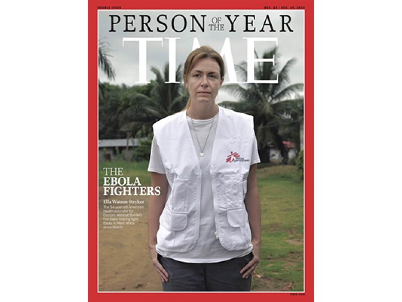 Ebola Fighter on TIME cover